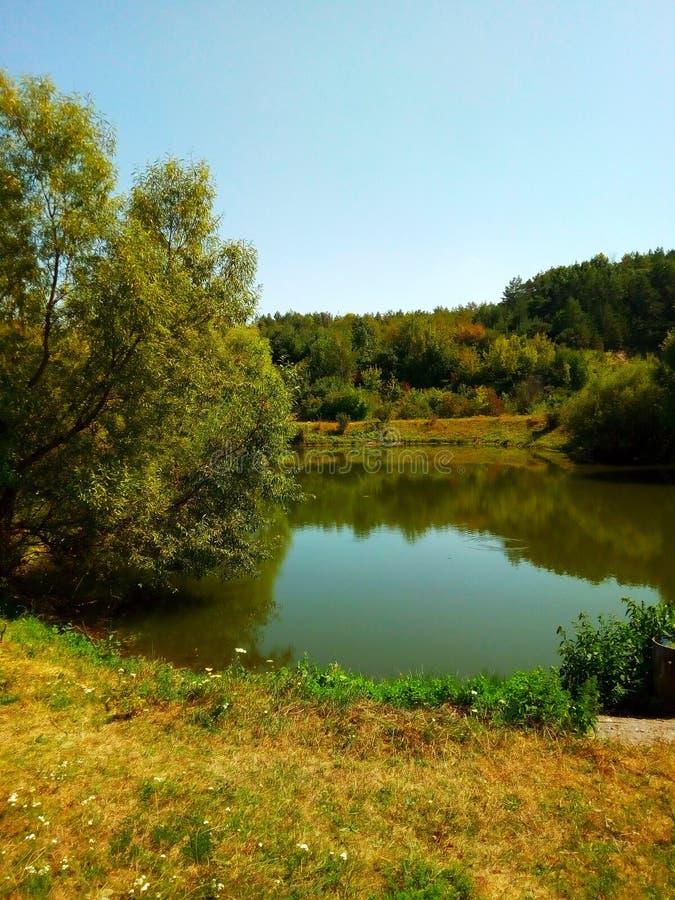 Poco lago fotografie stock