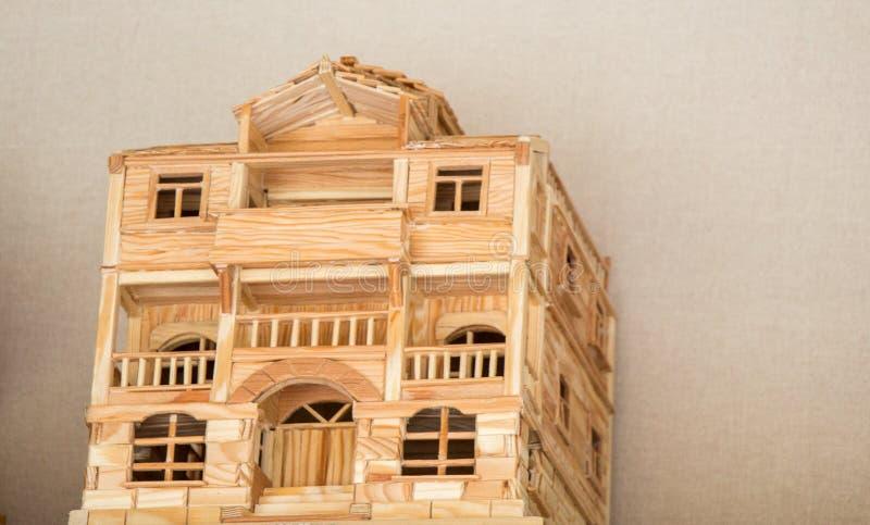 Poco modello dell'esempio di architettura tradizionale turca immagine stock