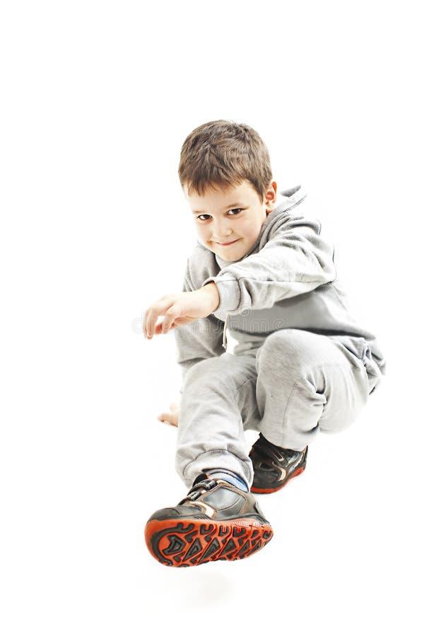 Poco muchacho fresco de hip-hop en danza imágenes de archivo libres de regalías