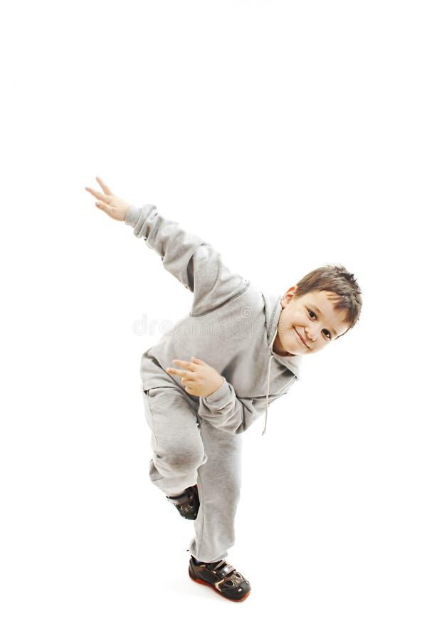 Poco muchacho fresco de hip-hop en danza fotos de archivo