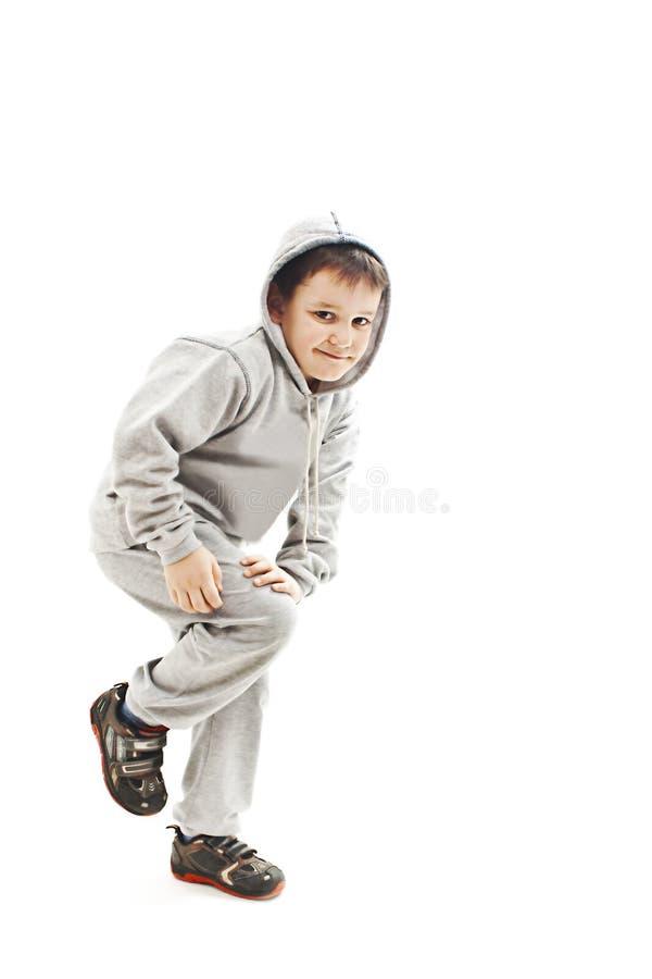 Poco muchacho fresco de hip-hop en danza imagen de archivo libre de regalías