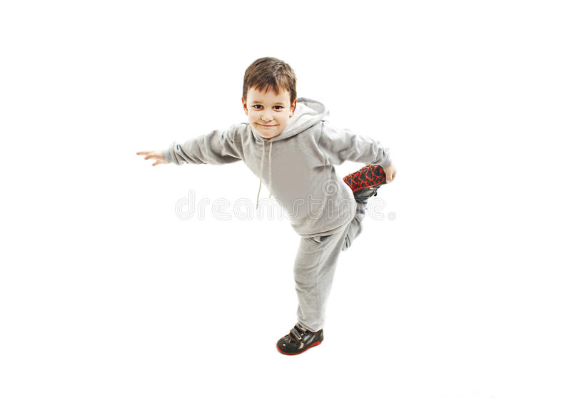 Poco muchacho fresco de hip-hop en danza fotografía de archivo libre de regalías