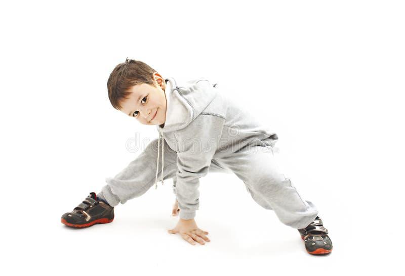 Poco muchacho fresco de hip-hop en danza imagen de archivo