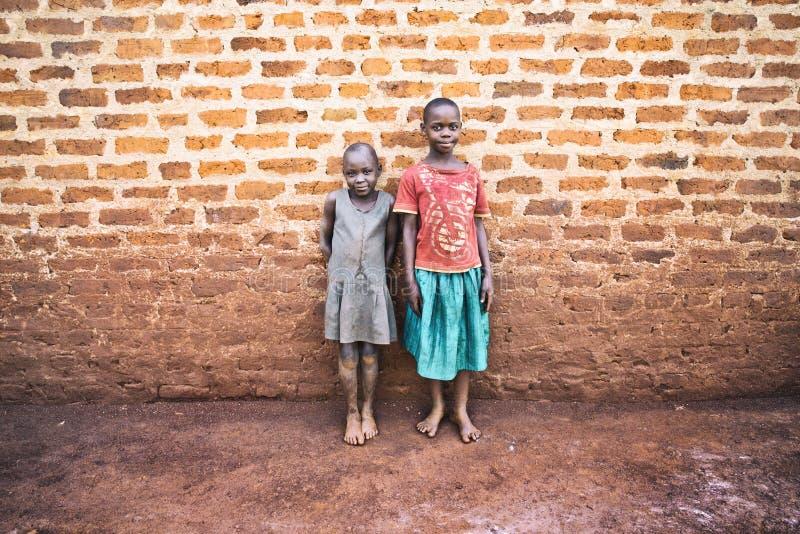 Poco niños ugandan en Jinja foto de archivo libre de regalías
