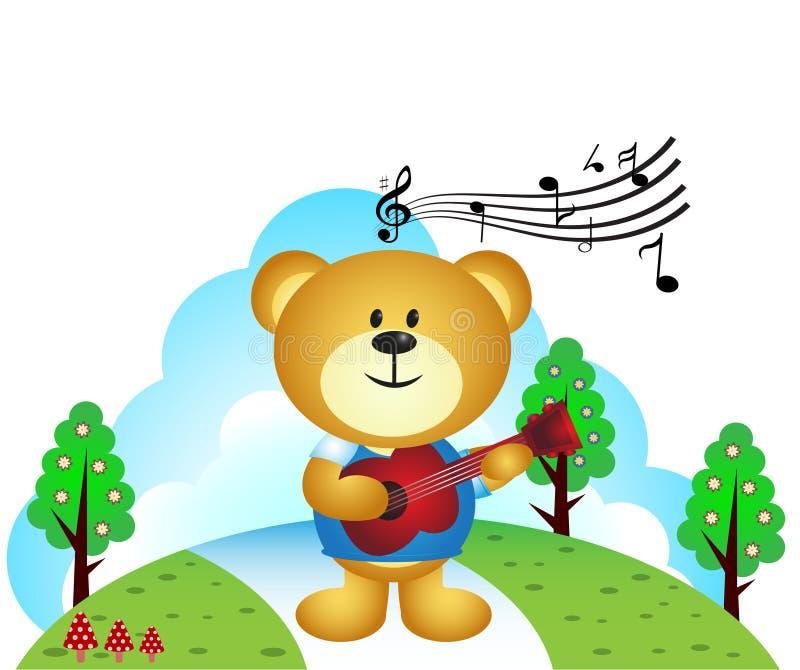 Download Poco Orso Che Insegue Farfalla Illustrazione Vettoriale - Illustrazione di erba, musica: 55355317