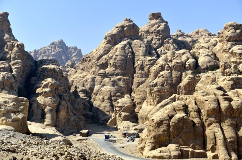 Poco Petra, Jordania fotografía de archivo