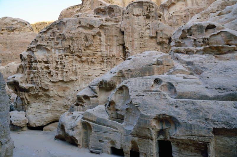 Poco Petra, Jordania fotografía de archivo libre de regalías