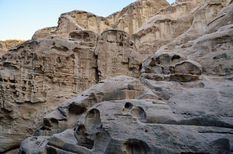 Poco Petra, Jordania imagenes de archivo