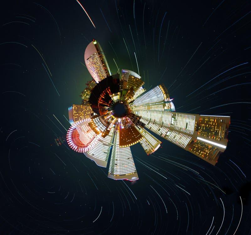 Poco planeta ilustración del vector
