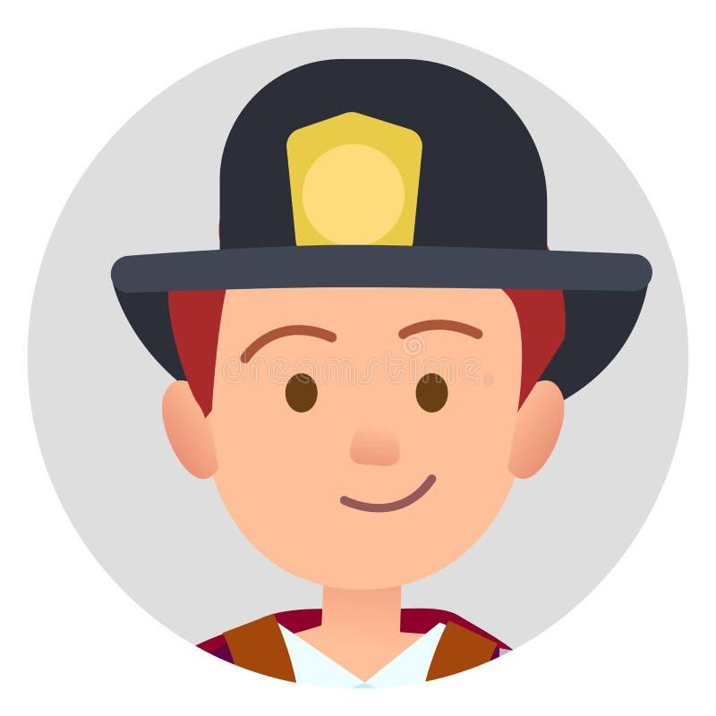 Poco pompiere futuro nell'illustrazione uniforme royalty illustrazione gratis
