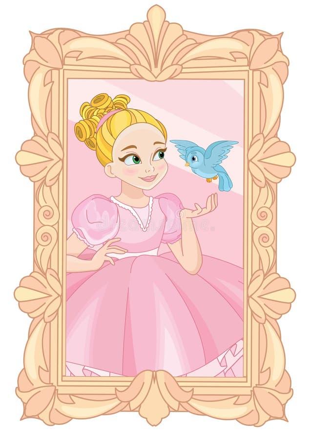 Poco princesa linda Portrait ilustración del vector