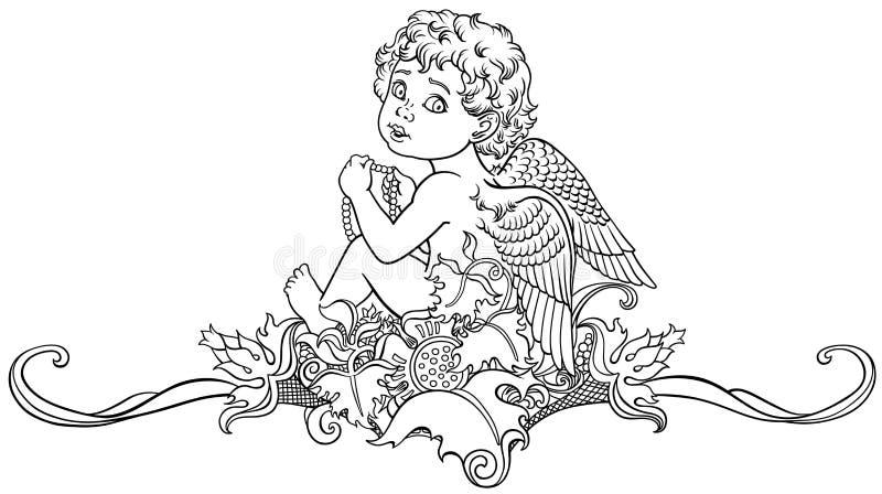 Poco profilo di angelo royalty illustrazione gratis