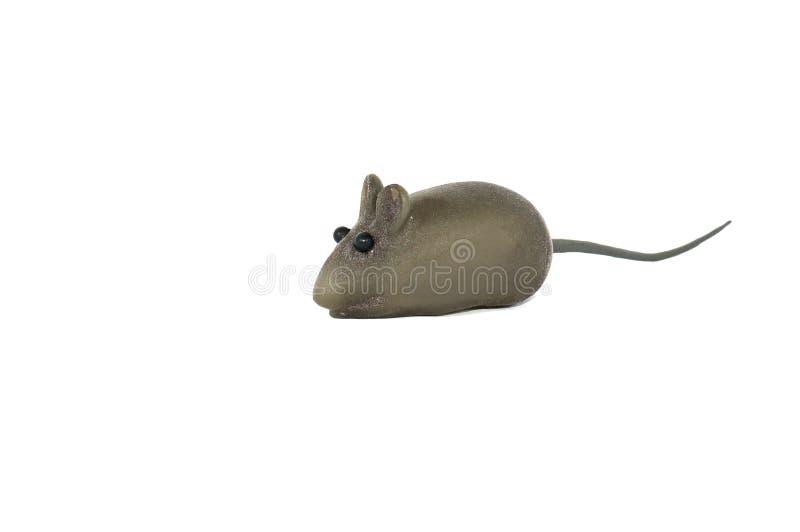 Poco ratón del juguete aislado fotografía de archivo