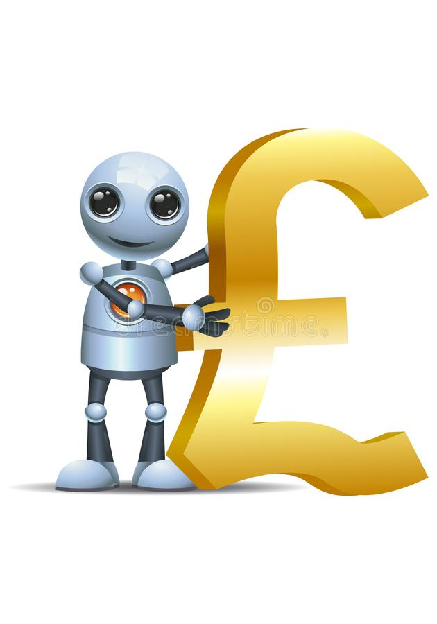 Poco símbolo de la libra del control del robot libre illustration