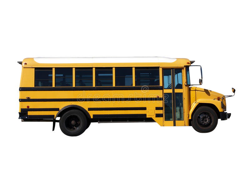 Poco scuolabus fotografia stock