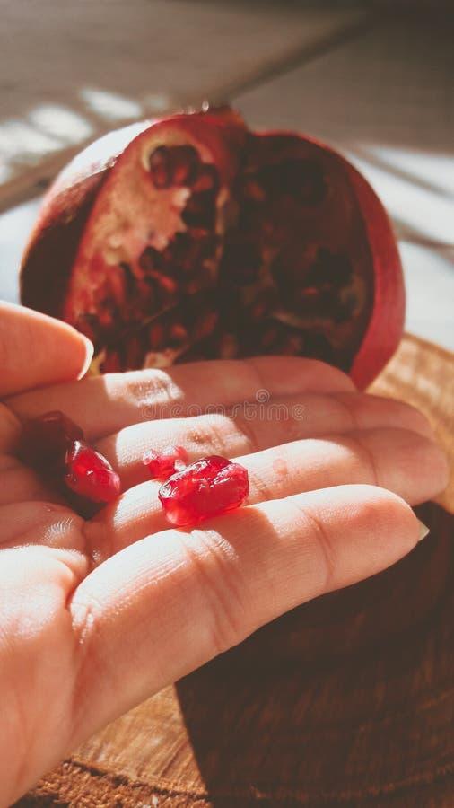 Poco semillas rojas imagenes de archivo