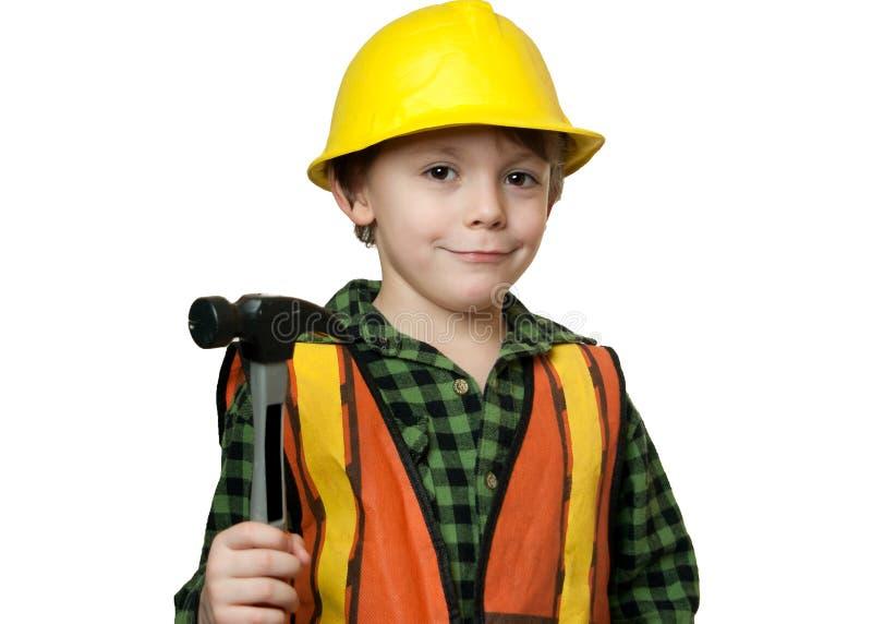 Poco trabajador de construcción foto de archivo libre de regalías