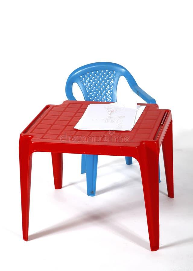 Poco vector y silla imagen de archivo