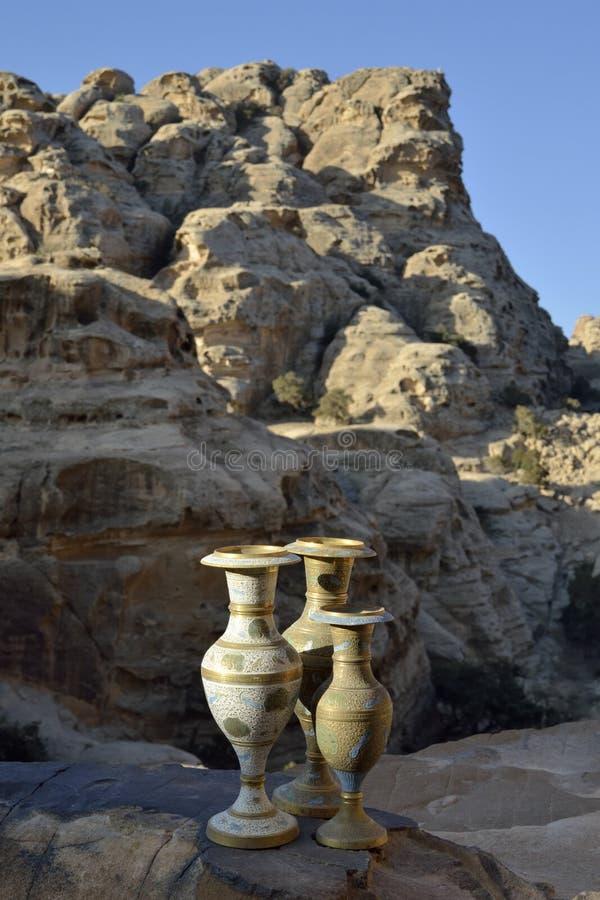 Pocos recuerdos del Petra, Jordania imagenes de archivo