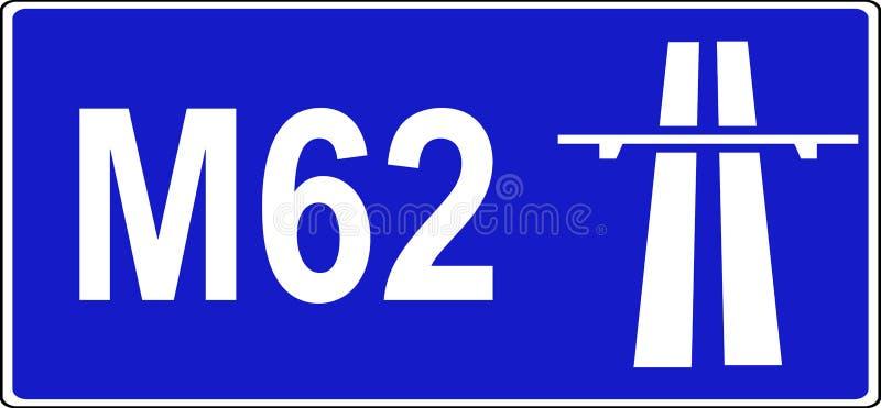 Początek autostrada przepisów znak ilustracji
