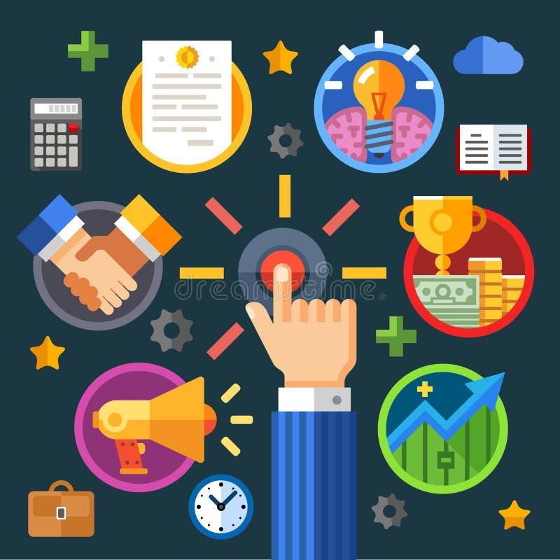 początek twój biznes ilustracji