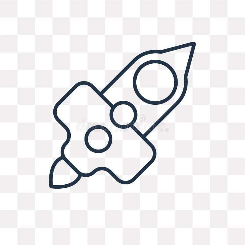 Początkowa wektorowa ikona odizolowywająca na przejrzystym tle, liniowy S ilustracja wektor