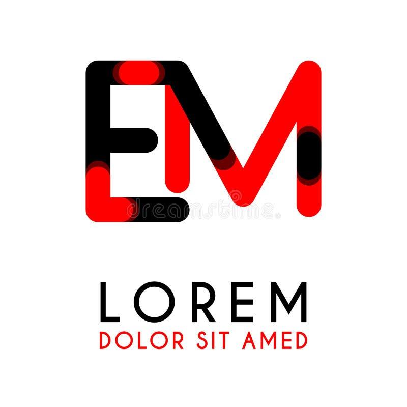 początkowego listu EM z czerwony Czarnym i zaokrąglał kąty ilustracji