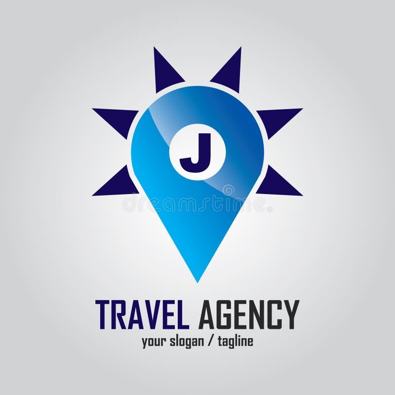 Początkowego listu logo dla podróży firmy ilustracji