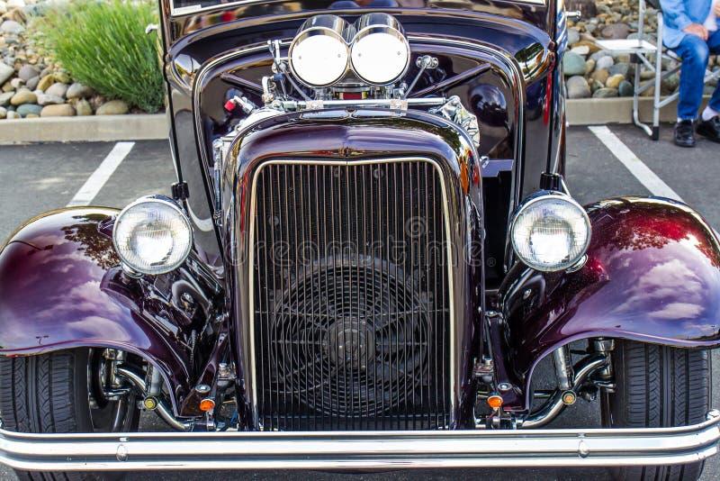 Początkowy grill Gorącego Rod samochód zdjęcia royalty free