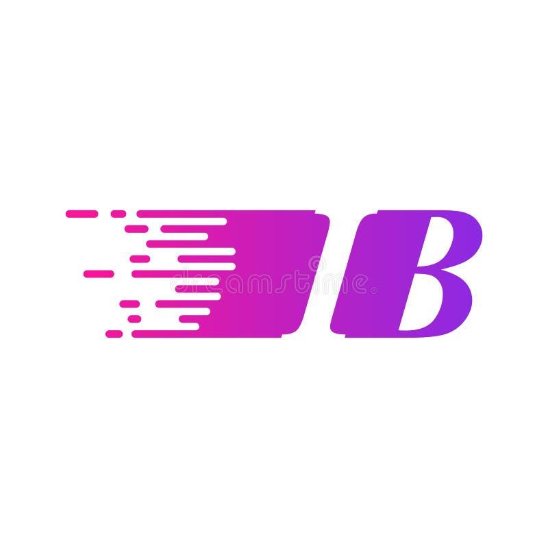 Początkowy list IB pości ruszający się logo purpur menchii wektorowego kolor royalty ilustracja