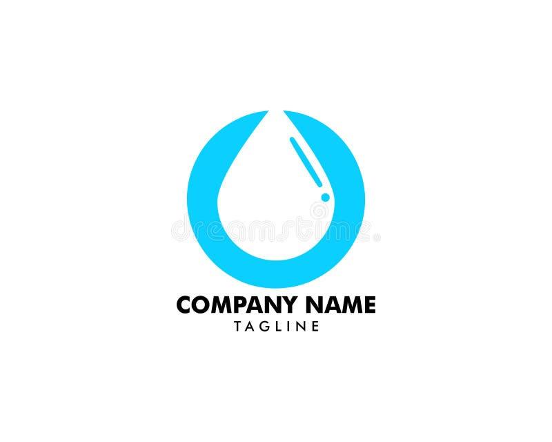 Początkowy list O Z wody kropli logo ilustracji