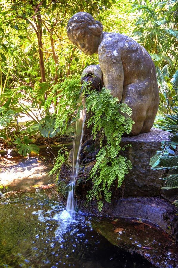 Poczęcie ogród, jardin los angeles Concepcion w Malaga (Hiszpania) obrazy stock