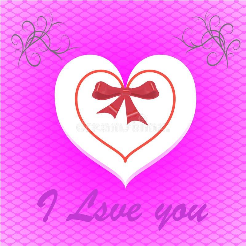 Pocztówka walentynki ` s dzień i wakacje miłość obraz royalty free