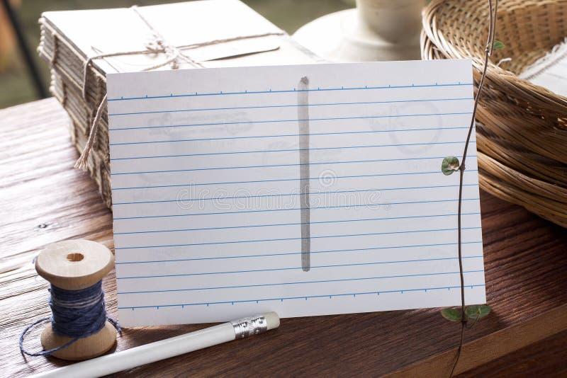 Pocztówka z elementem natura materiały fotografia stock