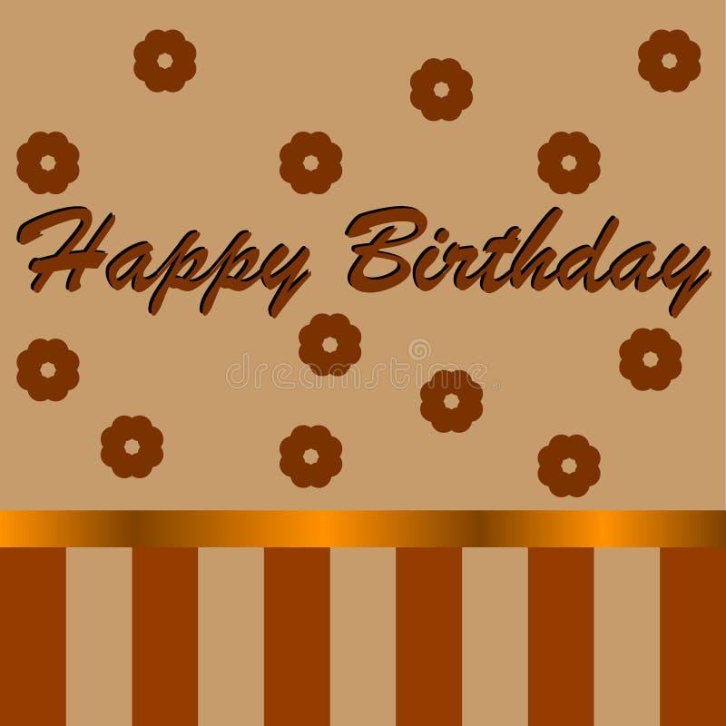Pocztówka z wpisowy ` wszystkiego najlepszego z okazji urodzin ` zdjęcia stock