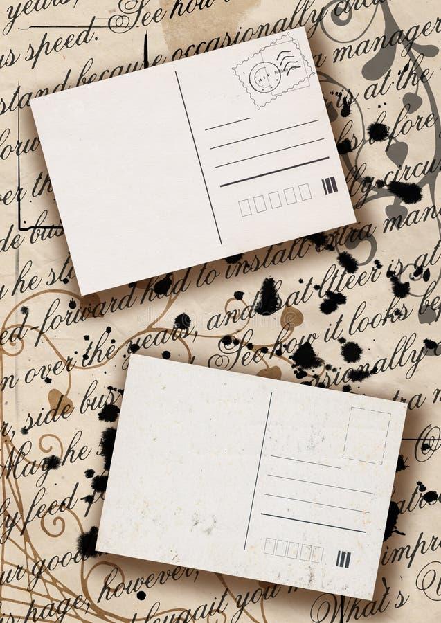 Pocztówki na listach ilustracja wektor