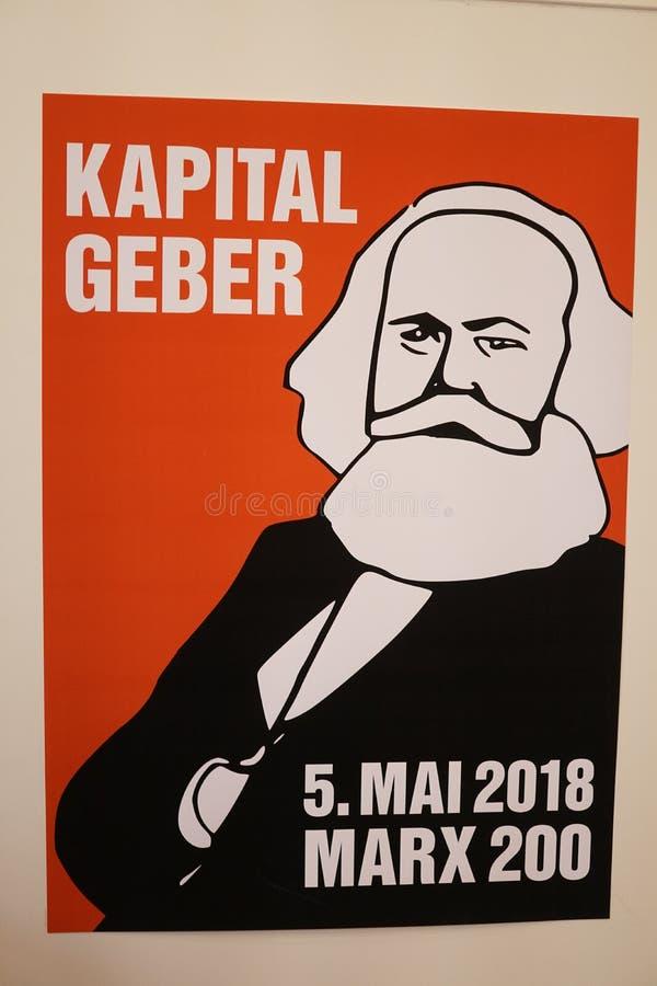 Pocztówki upamiętnia Karl Marx zdjęcia royalty free
