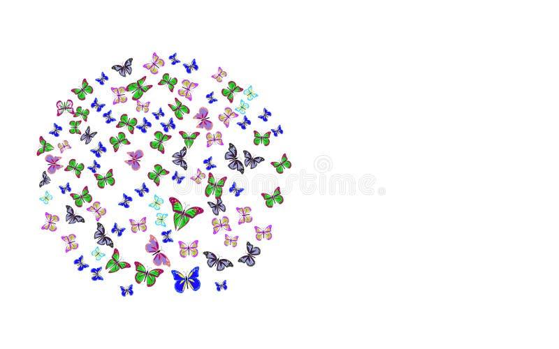 Pocztówkowa motylia piłka na bielu royalty ilustracja
