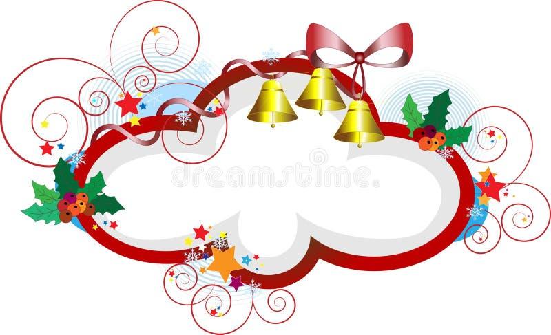 pocztówkowi Boże Narodzenie prezenty eleganccy ramowi ilustracja wektor