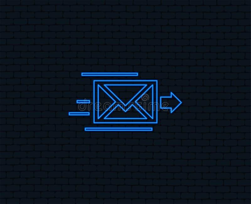 Poczta dostawy ikona Kopertowy symbol wiadomość ilustracji
