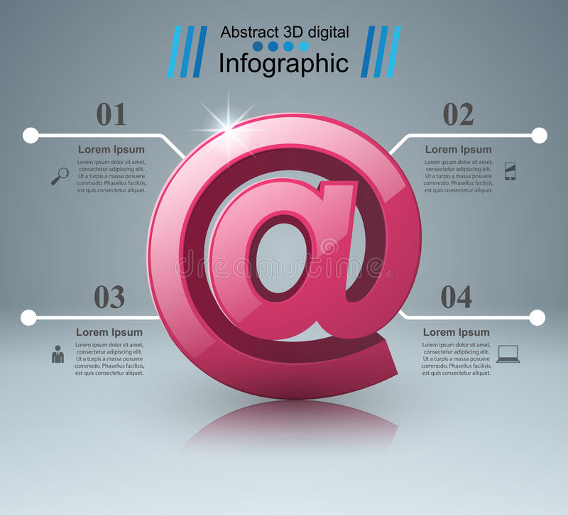 Poczta i emaila ikona Abstrakt infograpfic royalty ilustracja