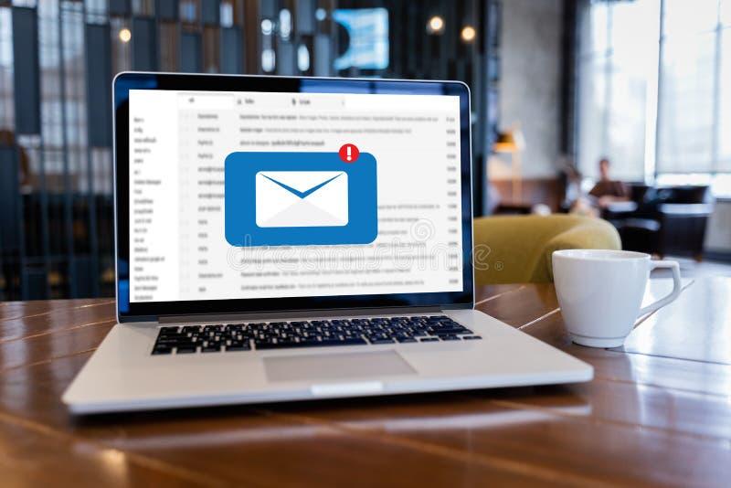 Poczta Komunikacyjna Podłączeniowa wiadomość opancerzanie kontakty dzwoni obraz royalty free