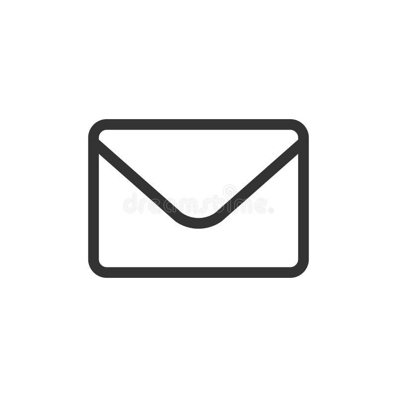 Poczta kopertowa ikona w mieszkanie stylu Otrzymywa emaila spama listowego vect ilustracji