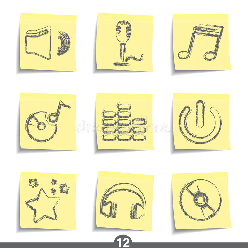 poczta muzyczne serie ilustracja wektor