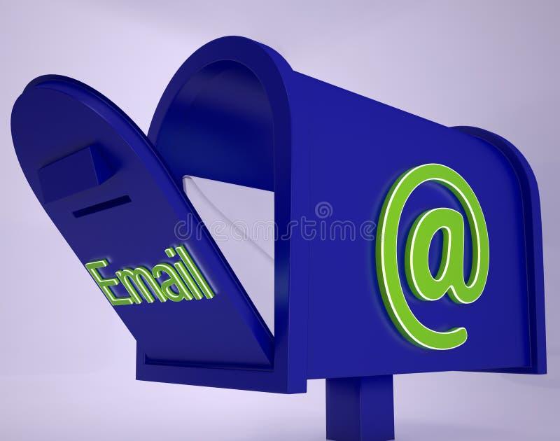 Poczta Na emaila pudełka przedstawieniach Otrzymywał emaili ilustracji
