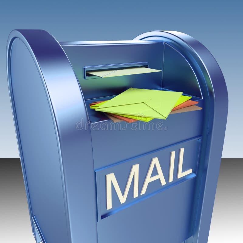 Poczta Na skrzynce pocztowa Pokazuje poczta poczta ilustracja wektor