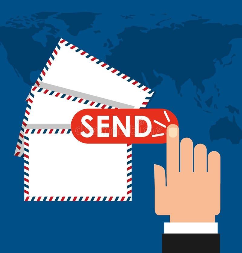 Poczta poczta usługa projekt ilustracja wektor