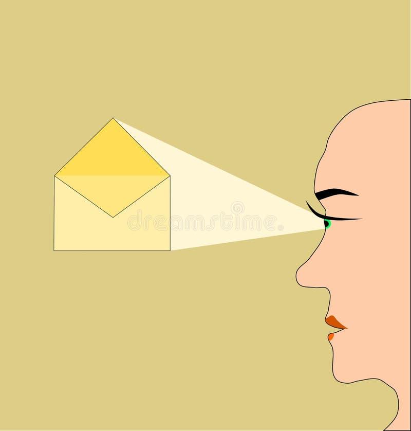 Poczta pojęcie - sekretność korespondencja royalty ilustracja
