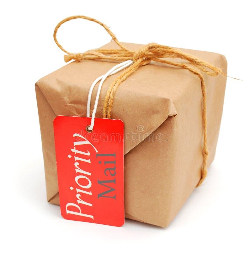 poczta pudełkowata etykietka zdjęcia stock