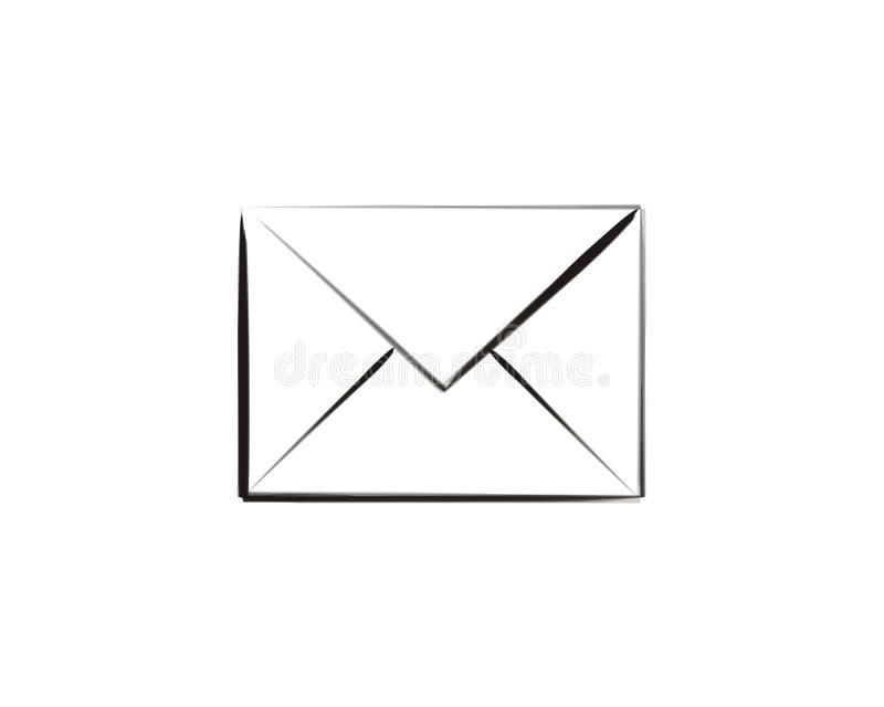 poczta szczotkarski sztuki ikony bang ilustracja wektor